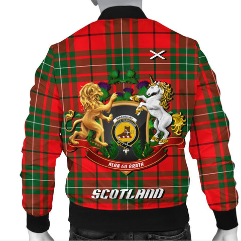 Image of MacAulay Modern | Tartan Bomber Jacket | Scottish Jacket | Scotland Clothing
