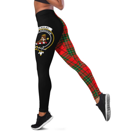 MacAulay Modern Crest Tartan Leggings | Over 500 Tartans | Special Custom Design
