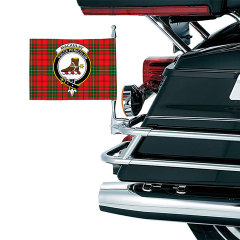 MacAulay Modern Clan Crest Tartan Motorcycle Flag