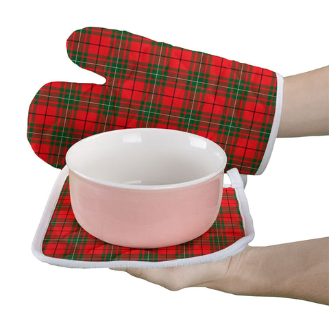Image of MacAulay Modern Clan Tartan Scotland Oven Mitt And Pot-Holder (Set Of Two)