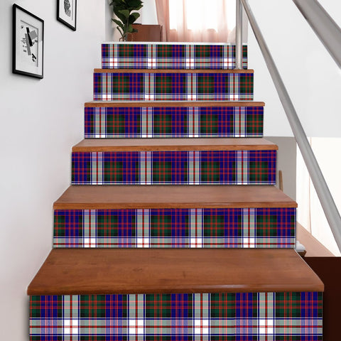 Image of Scottishshop Tartan Stair Stickers - MacDonald Dress Modern Stair Stickers A91