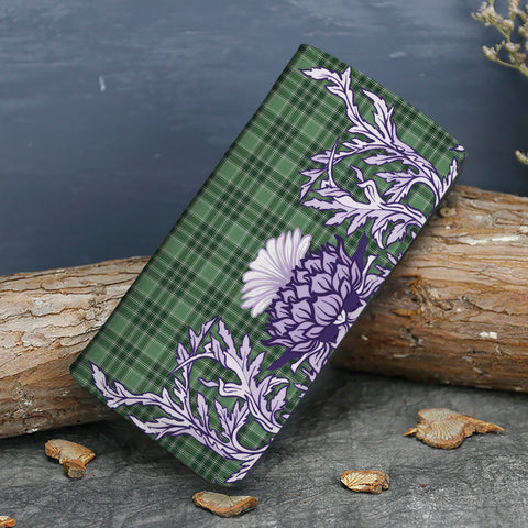 MacDonald Lord of the Isles Hunting Tartan Wallet Women's Leather Thistle A91