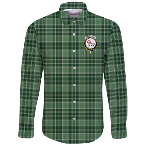 MacDonald Lord of the Isles Hunting Tartan Clan Long Sleeve Button Shirt | Scottish Clan