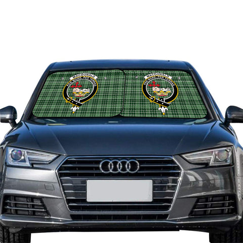 MacDonald Lord of the Isles Hunting Clan Crest Tartan Scotland Car Sun Shade 2pcs
