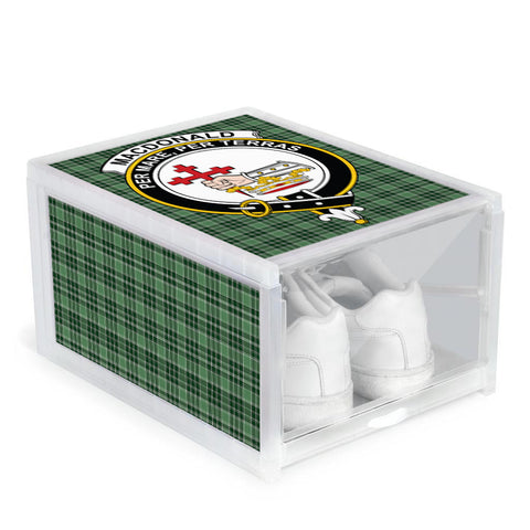 MacDonald Lord of the Isles Hunting Clan Crest Tartan Scottish Shoe Organizers