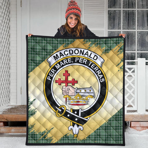 MacDonald Lord of the Isles Hunting Clan Crest Tartan Scotland Gold Royal Premium Quilt