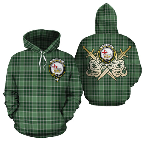 MacDonald Lord of the Isles Hunting Clan Crest Tartan Scottish Gold Thistle Hoodie