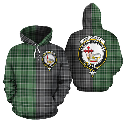 MacDonald Lord of the Isles Hunting Clan Half Of Me New Version Crest Tartan Hoodie