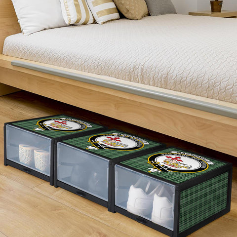 MacDonald Lord of the Isles Hunting Clan Crest Tartan Scottish Shoe Organizers K9