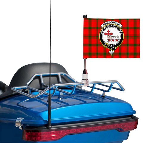 Image of MacDonald of Sleat Clan Crest Tartan Motorcycle Flag