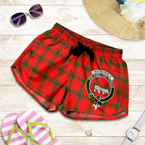 MacDonald of Sleat crest Tartan Shorts For Women
