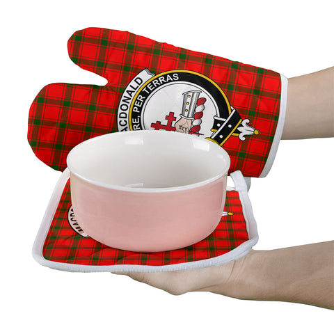 Image of MacDonald of Sleat Clan Crest Tartan Scotland Oven Mitt And Pot-Holder (Set Of Two)