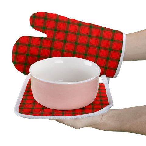 Image of MacDonald of Sleat Clan Tartan Scotland Oven Mitt And Pot-Holder (Set Of Two)