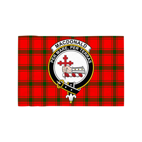 MacDonald of Sleat Clan Crest Tartan Motorcycle Flag