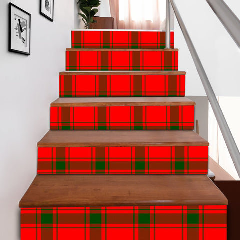 Scottishshop Tartan Stair Stickers - MacDonald of Sleat Stair Stickers A91