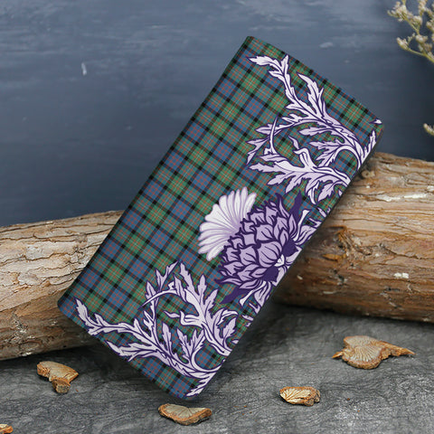 Image of MacDonnell of Glengarry Ancient Tartan Wallet Women's Leather Thistle A91