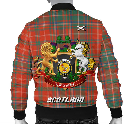 MacDougall Ancient | Tartan Bomber Jacket | Scottish Jacket | Scotland Clothing