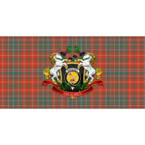 MacDougall Ancient Crest Tartan Tablecloth Unicorn Thistle A30