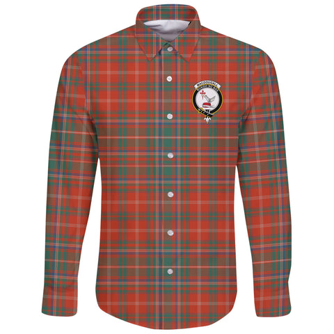 MacDougall Ancient Tartan Clan Long Sleeve Button Shirt | Scottish Clan