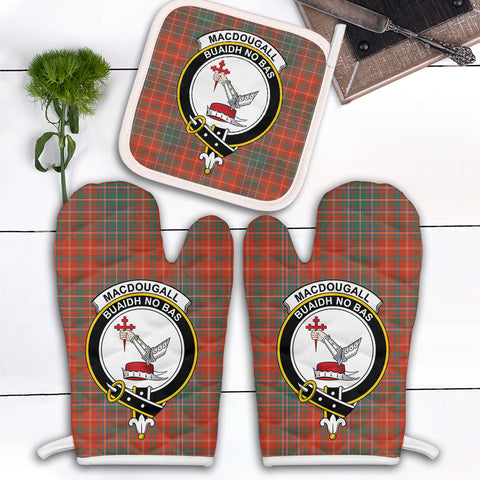 MacDougall Ancient Clan Crest Tartan Scotland Oven Mitt And Pot-Holder (Set Of Two)