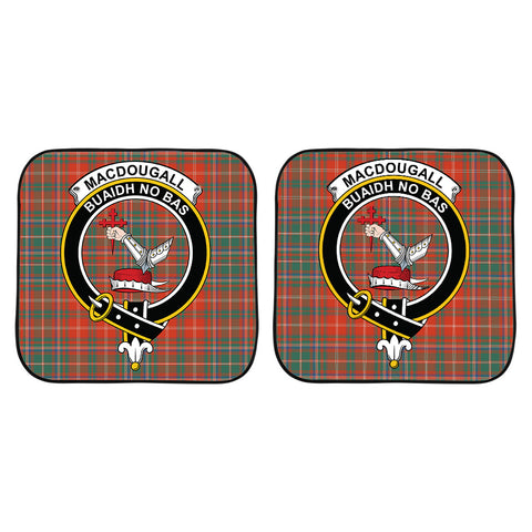 MacDougall Ancient Clan Crest Tartan Scotland Car Sun Shade 2pcs K7
