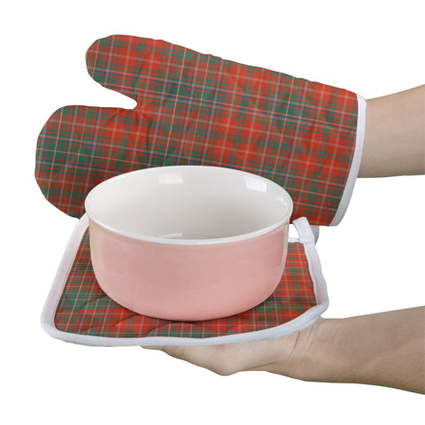 MacDougall Ancient Clan Tartan Scotland Oven Mitt And Pot-Holder (Set Of Two)