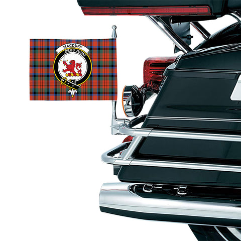 Image of MacDuff Ancient Clan Crest Tartan Motorcycle Flag