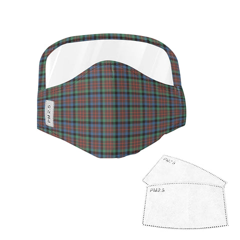 MacDuff Hunting Ancient Tartan Face Mask With Eyes Shield - Green & Blue  Plaid Mask TH8