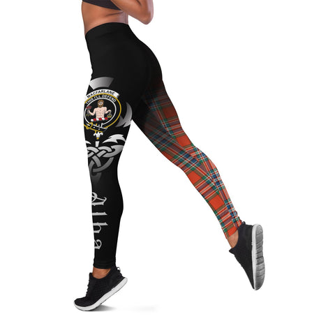 MacFarlane Ancient Crest Tartan Alba Celtic Leggings | Over 500 Tartans | Special Custom Design