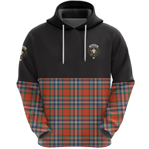 MacFarlane Ancient Clan Hoodie Half Of Tartan