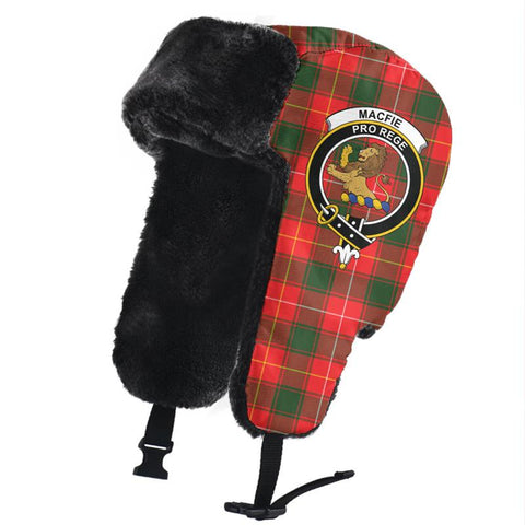 Image of MacFie Clan Crest Tartan Trapper Hat