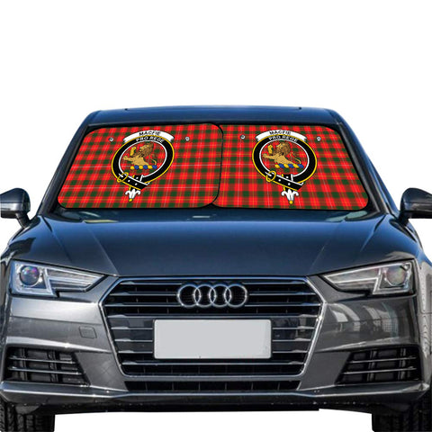 Image of MacFie Clan Crest Tartan Scotland Car Sun Shade 2pcs