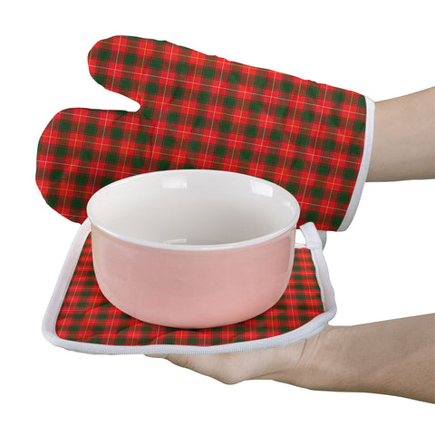 MacFie Clan Tartan Scotland Oven Mitt And Pot-Holder (Set Of Two)