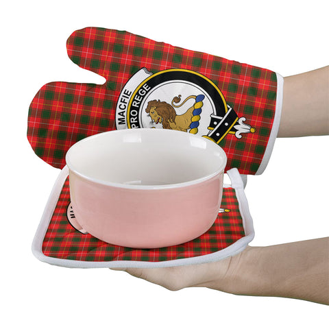 MacFie Clan Crest Tartan Scotland Oven Mitt And Pot-Holder (Set Of Two)
