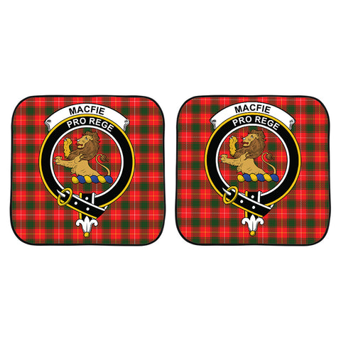 Image of MacFie Clan Crest Tartan Scotland Car Sun Shade 2pcs K7