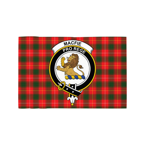Image of MacFie Clan Crest Tartan Motorcycle Flag