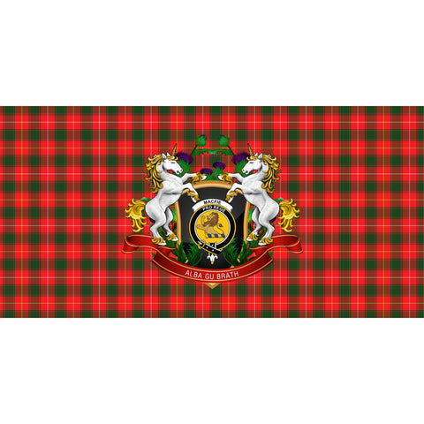 MacFie Crest Tartan Tablecloth Unicorn Thistle A30
