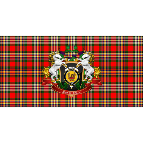 Image of MacGill Modern Crest Tartan Tablecloth Unicorn Thistle A30