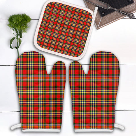 Image of MacGill Modern Clan Tartan Scotland Oven Mitt And Pot-Holder (Set Of Two)