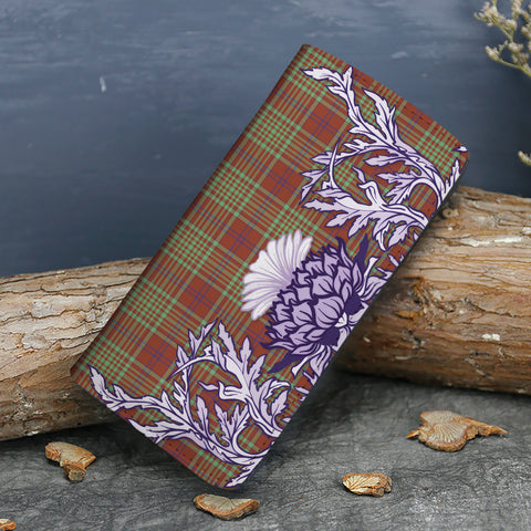 MacGillivray Hunting Ancient Tartan Wallet Women's Leather Thistle A91