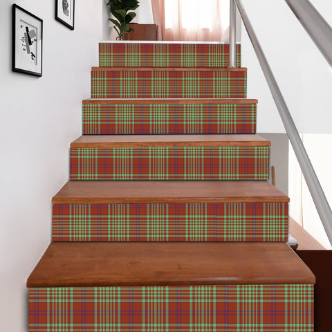 Image of Scottishshop Tartan Stair Stickers - MacGill Modern Stair Stickers A91