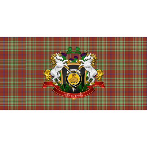 MacGillivray Hunting Ancient Crest Tartan Tablecloth Unicorn Thistle A30