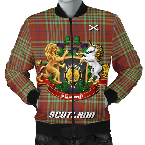 MacGillivray Hunting Ancient | Tartan Bomber Jacket | Scottish Jacket | Scotland Clothing