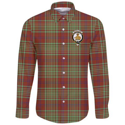 MacGillivray Hunting Ancient Tartan Clan Long Sleeve Button Shirt | Scottish Clan