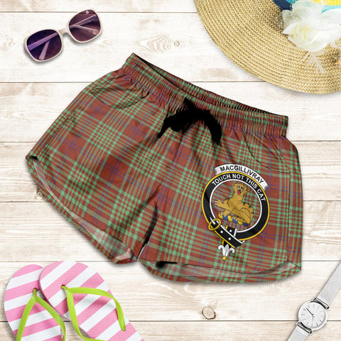 MacGillivray Hunting Ancient crest Tartan Shorts For Women