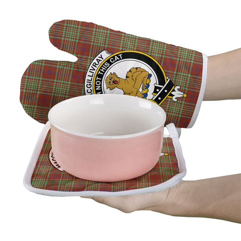 MacGillivray Hunting Ancient Clan Crest Tartan Scotland Oven Mitt And Pot-Holder (Set Of Two)