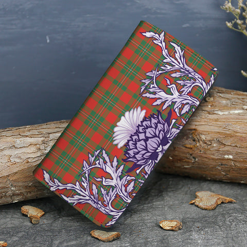 MacGregor Ancient Tartan Wallet Women's Leather Thistle A91