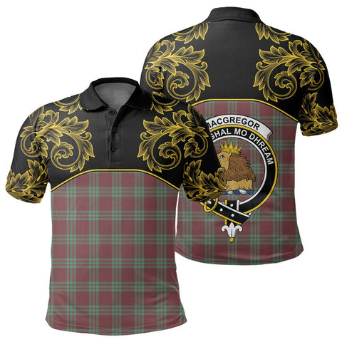 MacGregor Hunting Ancient Tartan Clan Crest Polo Shirt - Empire I - HJT4
