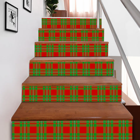 Image of Scottishshop Tartan Stair Stickers - MacGregor Modern Stair Stickers A91