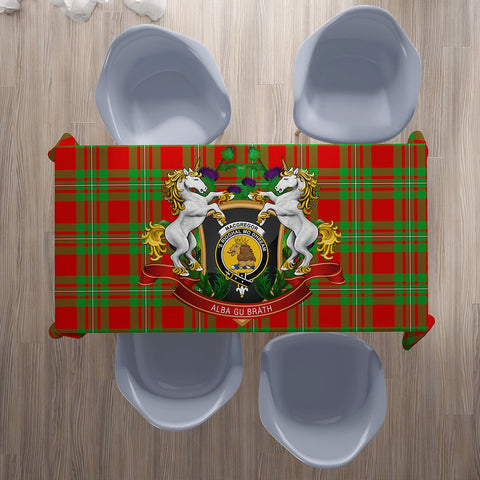Image of MacGregor Modern Crest Tartan Tablecloth Unicorn Thistle | Home Decor